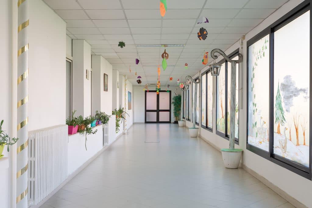 Corridoio e ambienti comuni Istituti Polesani